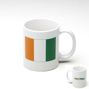 BOL - MUG - MAZAGRAN Tasse Mug Cote d' Ivoire - Drapeau Nation