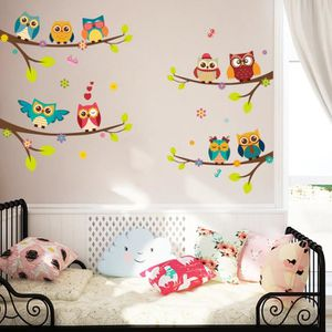Stickers muraux hiboux achat vente stickers muraux - Taille moyenne enfant ...