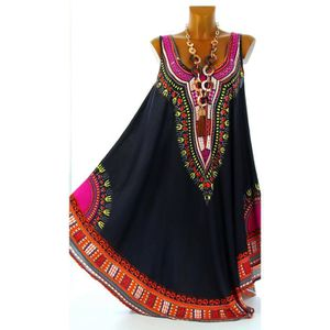 Achat Noire Longue Robe Grande Taille Ethnique Incas Noir w6Cfx7q0