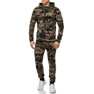 SURVÊTEMENT DE SPORT Survêtement avec capuche camouflage Kaki