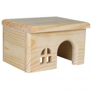 ACCESSOIRE ABRI ANIMAL Trixie Maison en bois (Dimension: 28 x 16 x 18