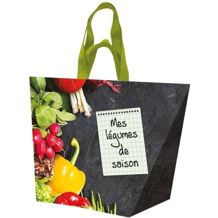 Sac cabas polypro tissé fruit et légume de saison