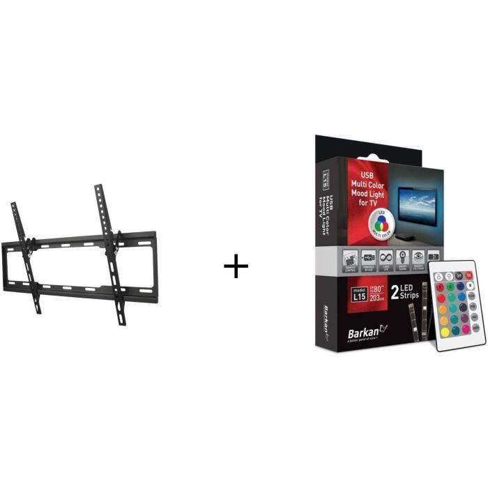 ONE FOR ALL WM2621 Support mural + BARKAN L15 LED Pour TV