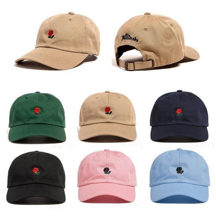 The Hundreds Dad Hat Fleur Rose Brode Curseur Brim Baseball Cap