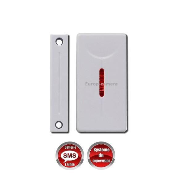 D tecteur d 39 ouverture porte fen tre sans fil 868 mhz bi - Alarme fenetre sans fil ...