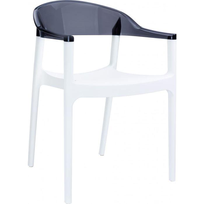 chaise transparente polycarbonate carmen blan achat vente chaise polycarbonate. Black Bedroom Furniture Sets. Home Design Ideas