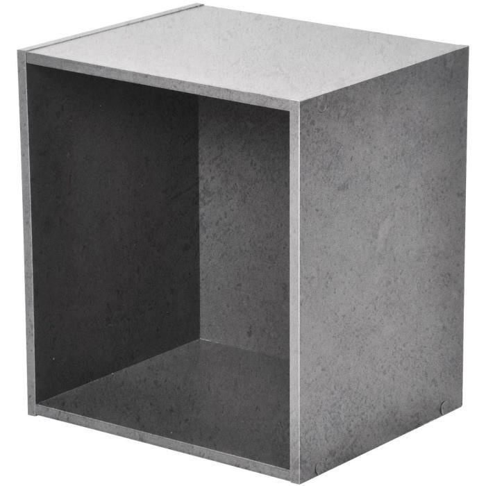 PETIT MEUBLE RANGEMENT  Cube de rangement - 1 niche - L34,5 x P29,5 x H34,