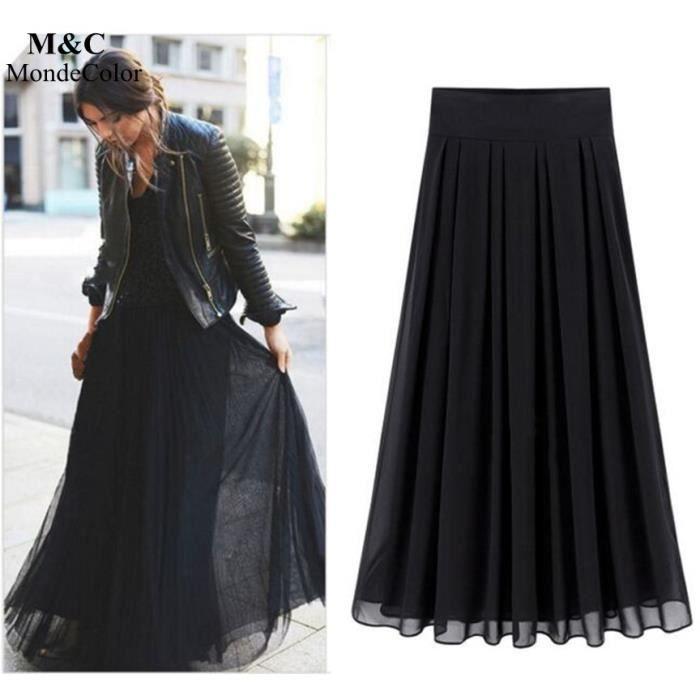 a75f9d961a2 Jupe longue femme noire - Achat   Vente pas cher
