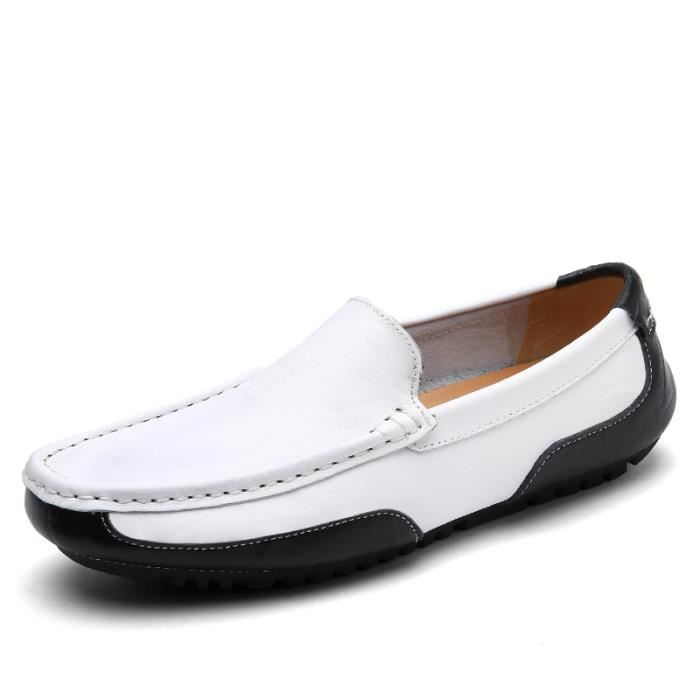 Homme Casual Mocassins cuir Chaussure Driving Chaussure Pois trois couleurs