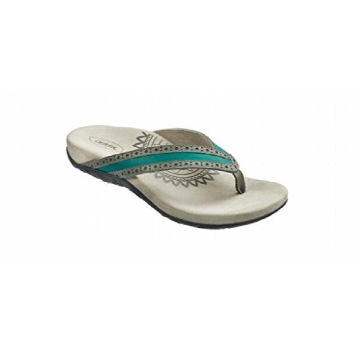 Aetrex Femmes Kim Chop Robe Thong Sandal ESJ7N Taille-38 1-2