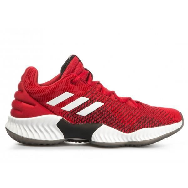 Chaussures de Basketball adidas Pro Bounce 2018 low Rouge pour homme