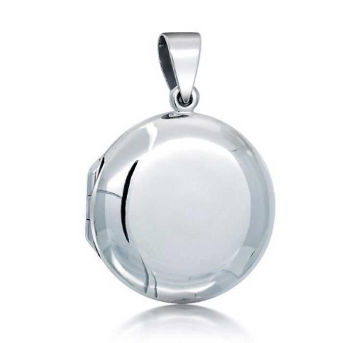 Brink ronde classique pendentif en Argent Pendentif Médaillon finition polie