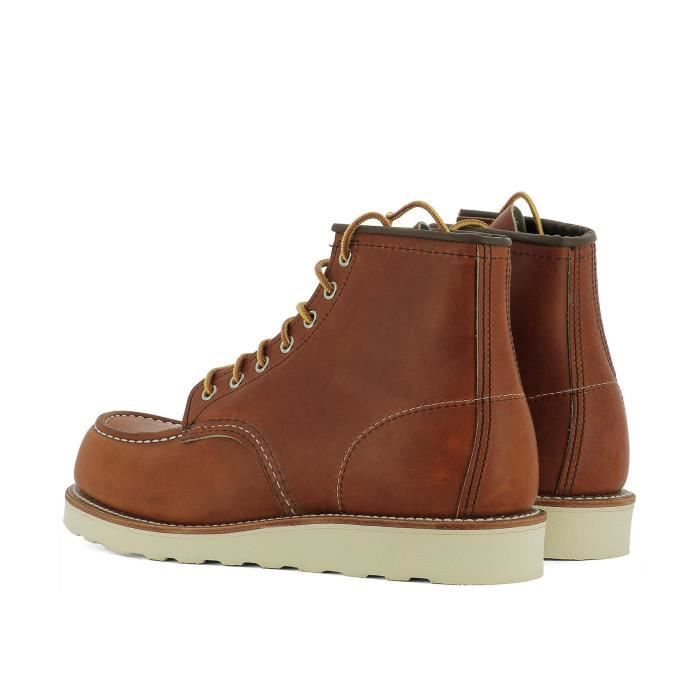 RED WING HOMME 00875 MARRON CUIR BOTTINES