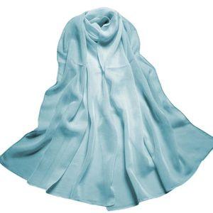 ECHARPE - FOULARD Écharpe de couleur de dégradée de mousseline de fe ... d6b7f41ae3c