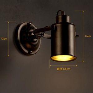 APPLIQUE  Applique Rétro Lampe Murale LED Industriel Mur de
