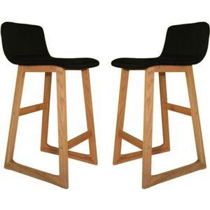 tabouret bar bois noir achat vente pas cher. Black Bedroom Furniture Sets. Home Design Ideas