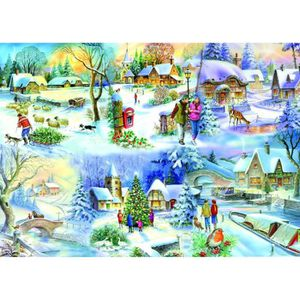 PUZZLE Puzzle 500 pièces Pièces XXL - Snowy Afternoon
