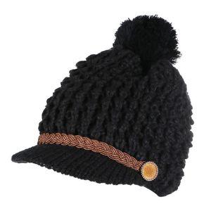 Filles: accessoires CMP Beanie Bonnet D'Hiver Tricoté Rose Pompon Doublure Polaire Motif