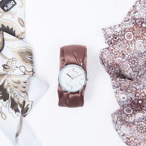 BRACELET DE MONTRE Montre Trend Bracelet satin Brown - Bill's watches