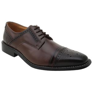 DERBY Fortune Handmade Classic Leather Oxford Lace-up Ca