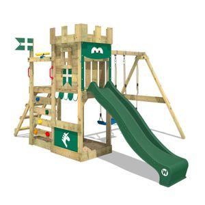 TOBOGGAN Aire de jeux WICKEY RoyalFlyer portique en bois av