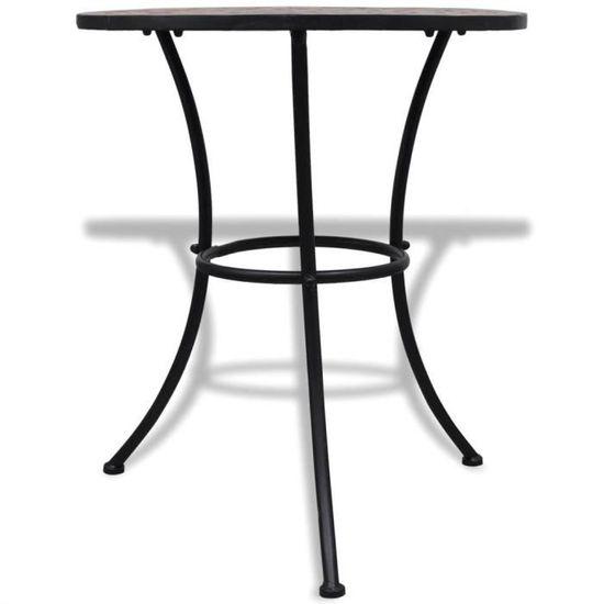 Ensembles de meubles d\'exterieur Couleur : Terre cuite Materiaux : Cadre en  fer thermolaque + assises et plateau