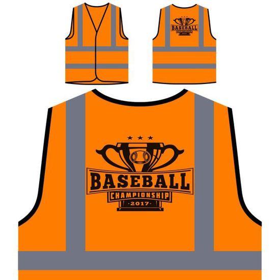 Protection baseball Veste Hau À Personnalisée 2017 Sports Orange Usa De Visibilité Haute U5A0Aqw1x