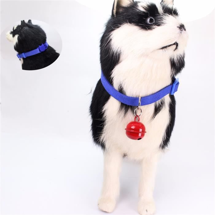 Exquisite Adjustable Dog Puppy Pet Collars Cat Shape Safety Pin Whit Bell Mo1463