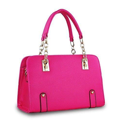 Craze texturé sac à bandoulière en faux cuir, broderie tonale d poche anneau de sac à glissière TJAQ1