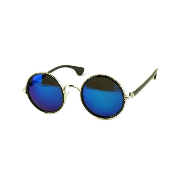 fd72f62b4ad24c Lunettes Old School Miroir Bleu Bleu - Achat   Vente lunettes de ...