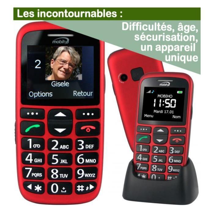 Téléphone portable CLASSIC INITIAL Rouge. Le seul appareil réunissant 2d6b8ee9c00c