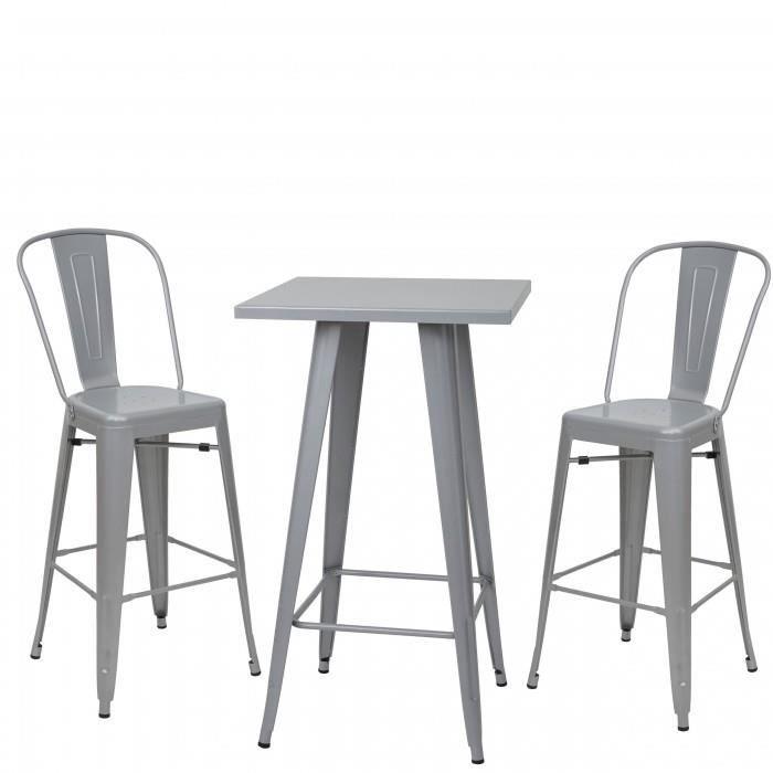 Set Table Mange Depout 2x Tabouret De Bar HWC A7
