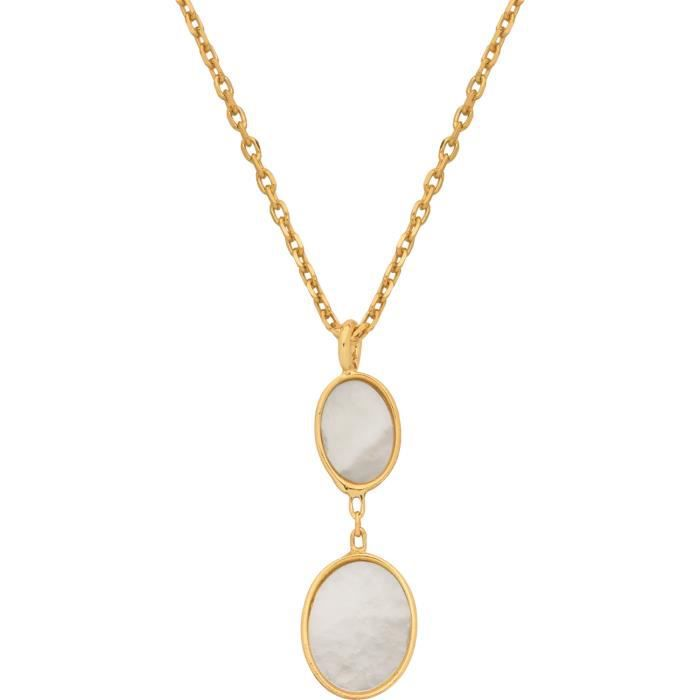 DIAMANTLY Collier ovales nacre or 375-1000 - 45.0 cm