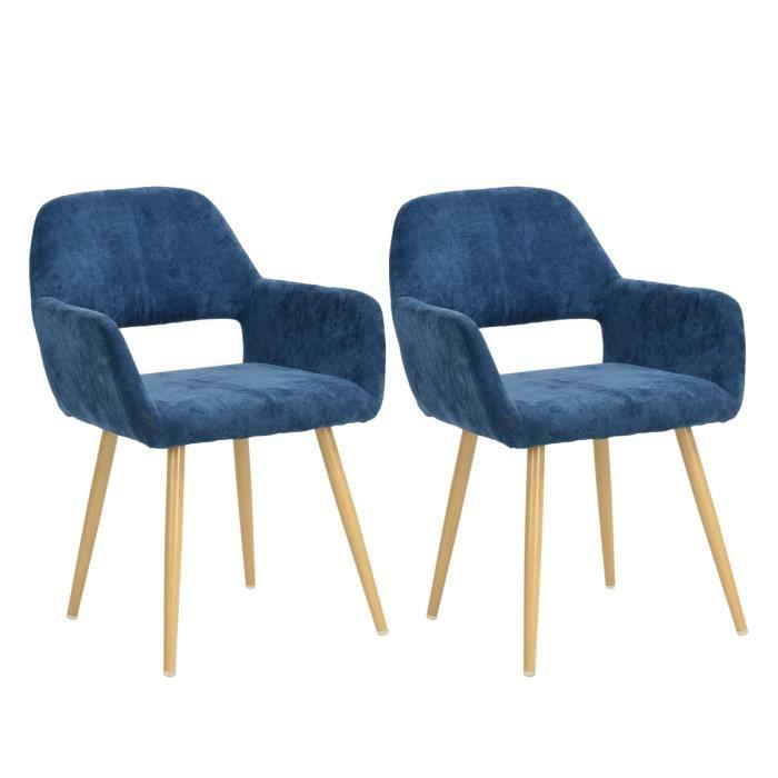 CHAISE Homy Casa Lot de 2 Chaise à manger Chaise de Salon