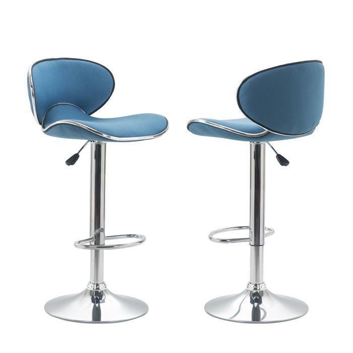 Lot De 2 Tabourets De Bar Lounge Chaise Haute Pour Cuisinecomptoir