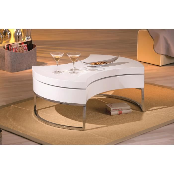 miliboo table basse design blanc laqu platea achat. Black Bedroom Furniture Sets. Home Design Ideas