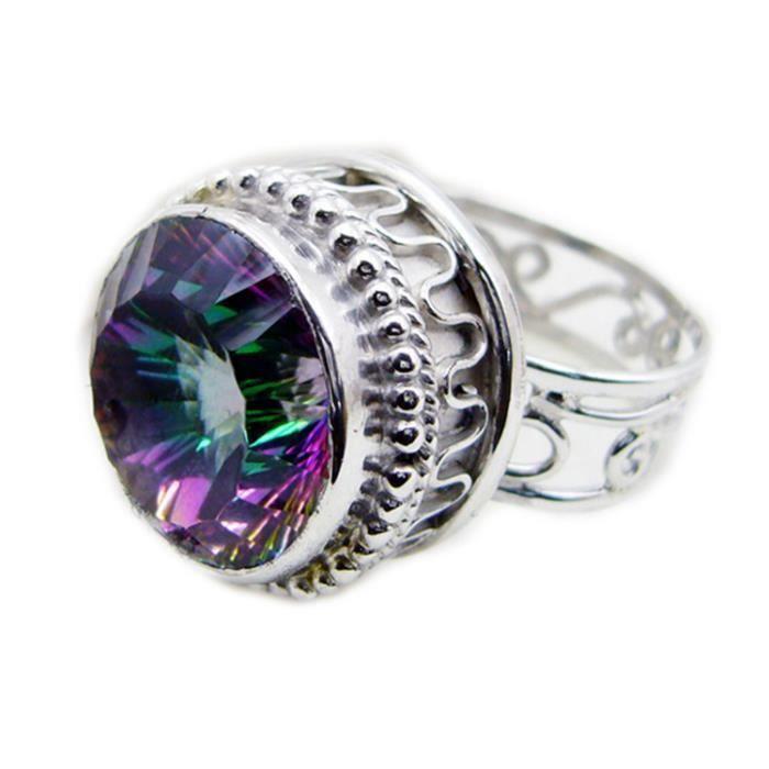 anneau mystique de quartz - bague multipolaire - Bague en argent - anneau dargent à plusieurs