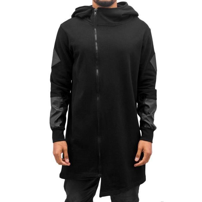 a32c1a14b657b Bangastic Homme Hauts / Sweat à capuche zippé Elden Noir Noir ...