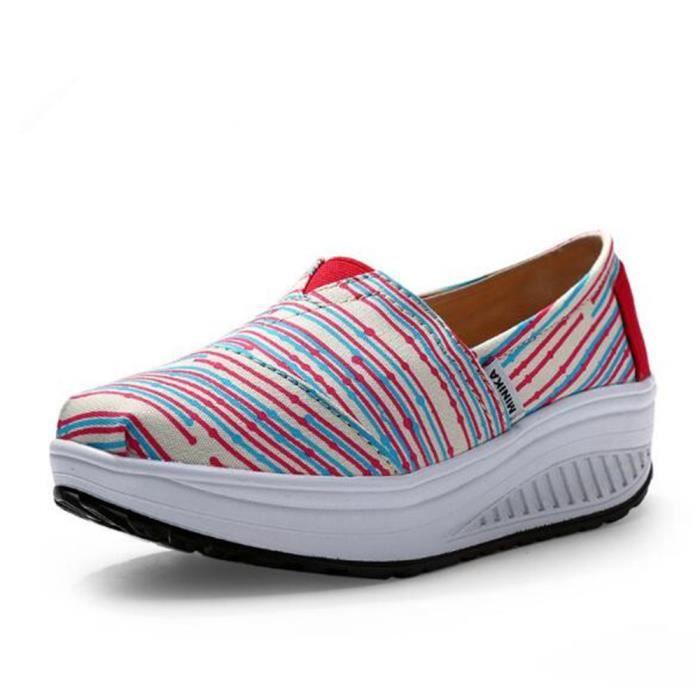 chaussures femme Nouvelle Mode Moccasins Marque De Luxe plates à fond épais Loafers femme Grande Taille hauteur croissante 35-40
