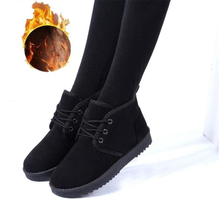 Bottes Femmes Léger Classique Plus De Cachemire Bottine Meilleure Qualité Plus De Couleur Rétro Chaussure noir Plus Taille 35-43 UFB8F02Mk7