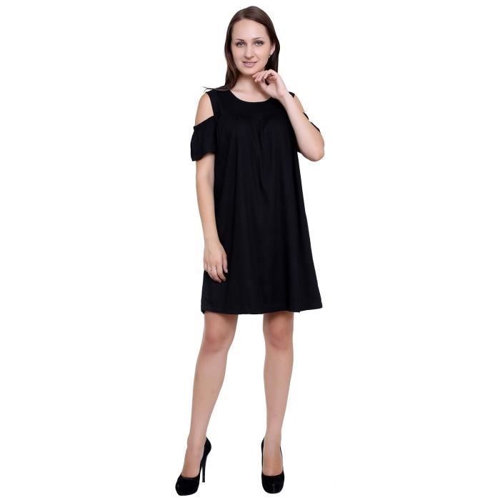 Womens Black A-line Dress DID0W Taille-34