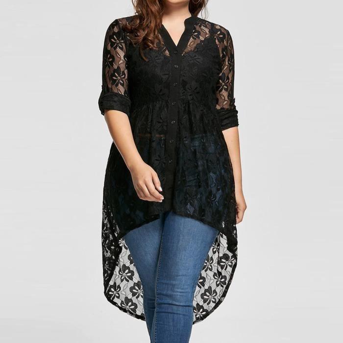 Kimono Bas Florale Zwy6316 High Tops Bouton Couvrante Confor® Dentelle En Up Plus Size Femmes Cardigan gxwT7R