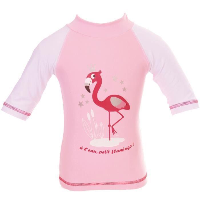 a7a9697b2dbd8 Tee-shirt anti-uv flamingo 3-6 mois Rose - Achat   Vente t-shirt ...