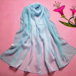 ... ECHARPE - FOULARD Écharpe de couleur de dégradée de mousseline de fe ... 3aeee948b35