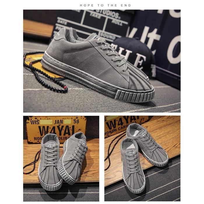 Sneakers Hommes Coquilles Chaussures Casual Chaussures De Toile Sneakers w0P0I6M0