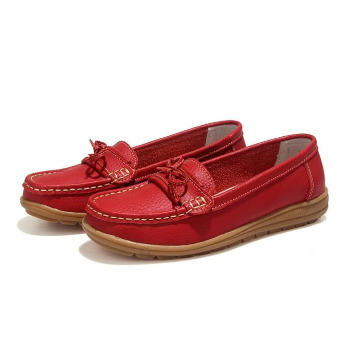 Driving Loafers Slip On Soft Walk Flats Moccasins Anti-skid Boat Shoes T15UQ Taille-38 1-2