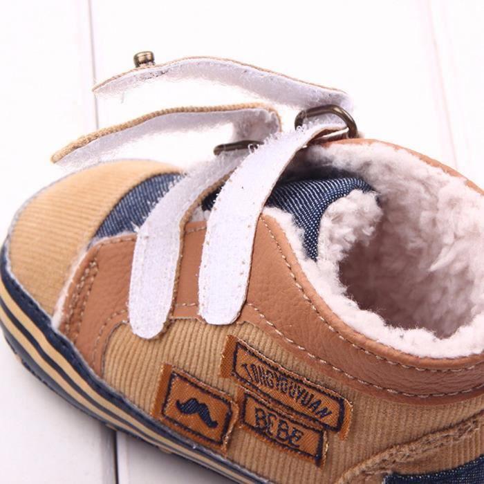 Lavieni ®Baskets nouveau-nés de toile de bébé d'enfant de nouveau-né anti-dérapant chaussures souples d'enfant en bas âge Cn6pRx