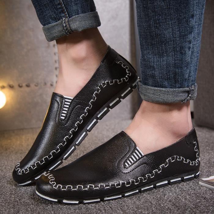 Hommes d'été Mocassins Vintage Style de conduite Chaussures