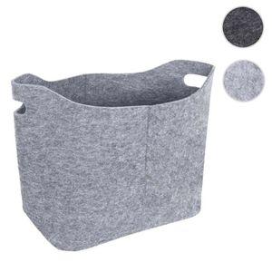 POUBELLE - CORBEILLE Corbeille en feutre HWC-C35, 40 litres ~ gris clai