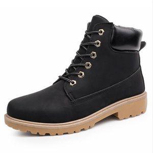 Martin Bottines Hommes Confortable Classique En Cuir Peluche Boots TYS-XZ030Marron45-jr xUjRbu